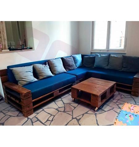 Beltéri Kétszemélyes karfás raklap kanapé
