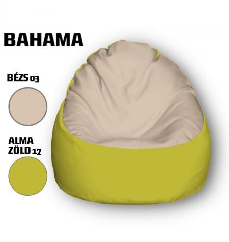 Bézs - Alamazöld Babzsákfotel