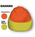 Narancssárga - Alamazöld Babzsákfotel