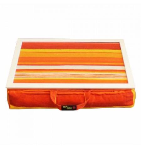 Laptoptartó Párna Narancssárga csíkos