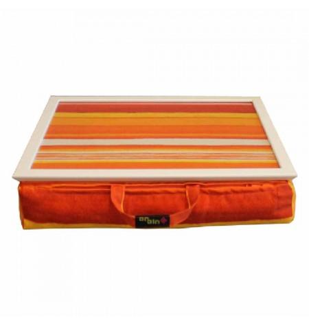 Laptop tartó Párna Narancssárga csíkos