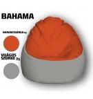 Narancssárga - Világos Szürke Babzsákfotel