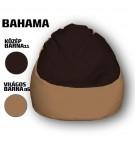 Közép Barna - Világos Barna Babzsákfotel