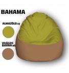 Alma Zöld - Világos Barna Babzsákfotel