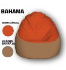 Narancssárga - Világos Barna Babzsákfotel
