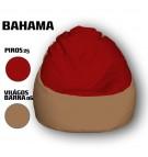 Piros - Világos Barna Babzsákfotel