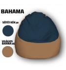 Sötét Kék - Világos Barna Babzsákfotel