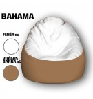 Fehér - Világos Barna Babzsákfotel
