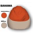 Narancssárga - Bézs Babzsákfotel