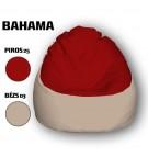 Piros - Bézs Babzsákfotel