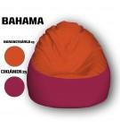Narancssárga - Ciklámen Babzsákfotel