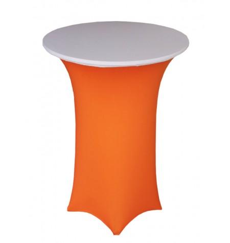 Könyöklő, narancssárga huzattal és fehér sapkával