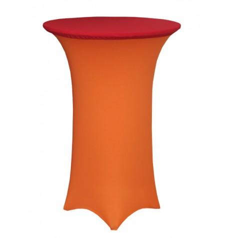 Könyöklő, narancssárga huzattal és piros sapkával