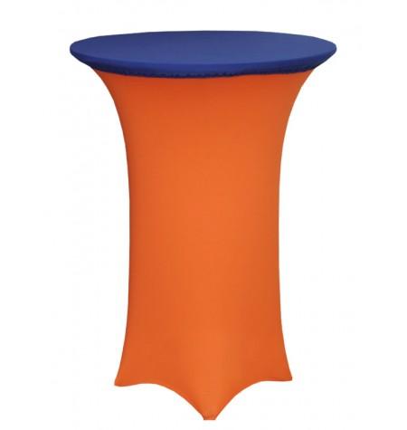 Könyöklő, narancssárga huzattal és kék sapkával