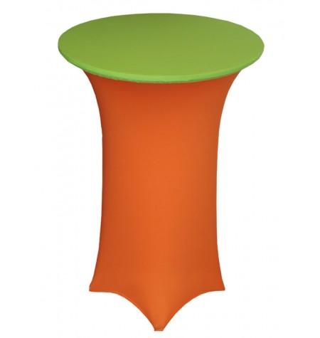 Könyöklő, narancssárga huzattal és zöld sapkával