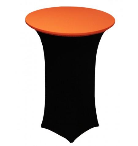 Könyöklő, fekete huzattal és narancssárga sapkával