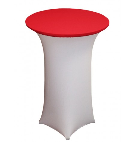 Könyöklő, fehér huzattal és piros sapkával