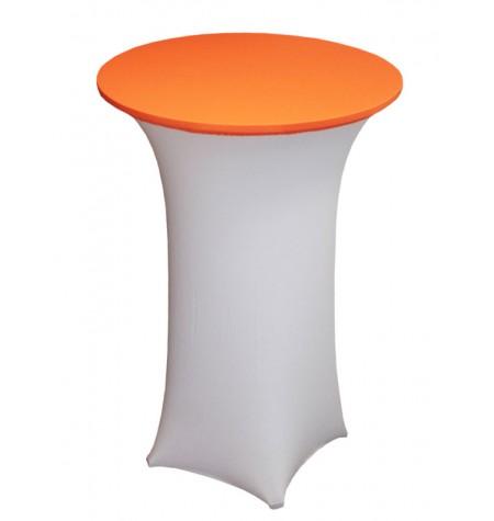 Könyöklő, fehér huzattal és narancssárga sapkával