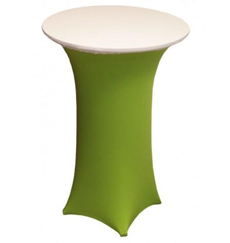 Könyöklő, zöld huzattal és fehér sapkával