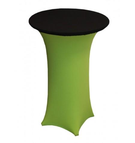 Könyöklő, zöld huzattal és fekete sapkával