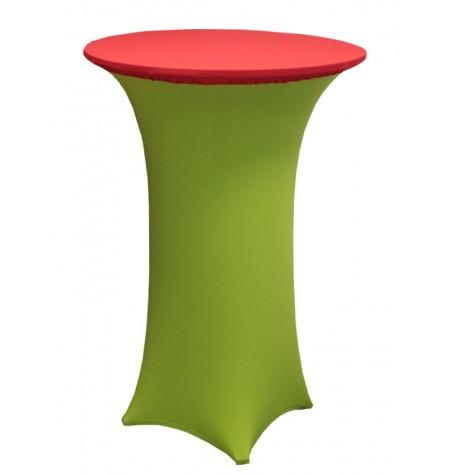 Könyöklő, zöld huzattal és piros sapkával