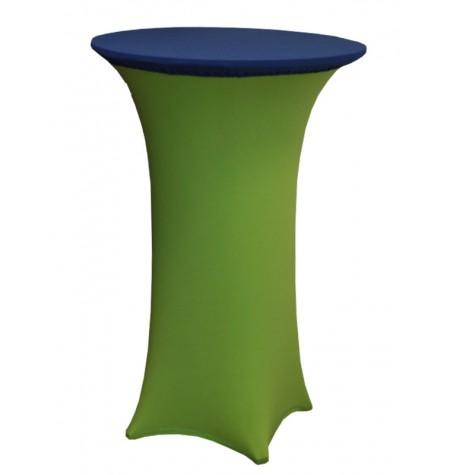 Könyöklő, zöld huzattal és kék sapkával