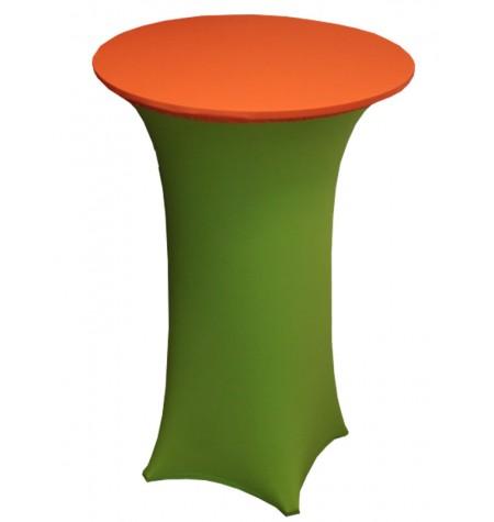 Könyöklő, zöld huzattal és narancssárga sapkával