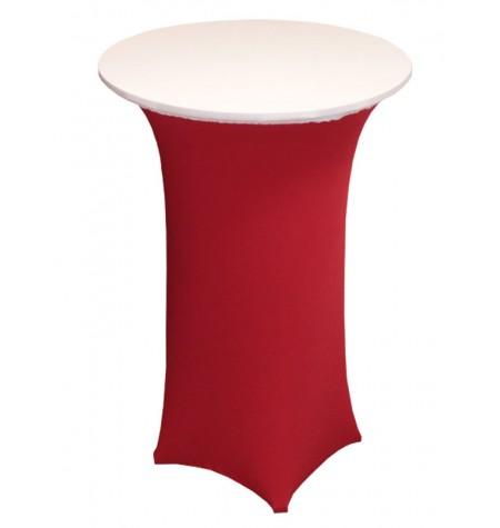 Könyöklő, piros huzattal és fehér sapkával