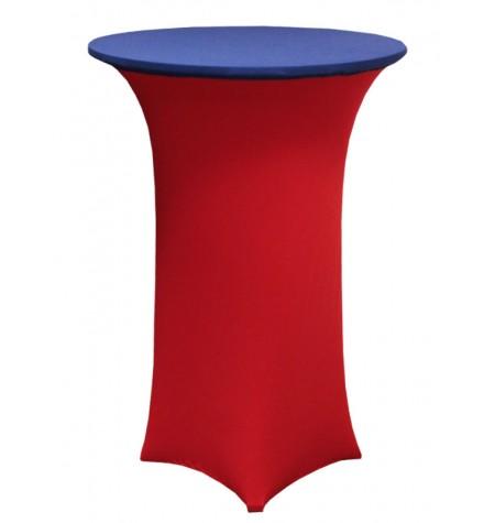 Könyöklő, piros huzattal és kék sapkával