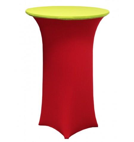 Könyöklő, piros huzattal és zöld sapkával