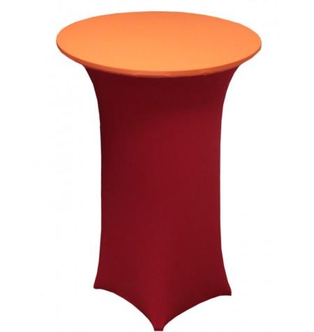 Könyöklő, piros huzattal és narancssárga sapkával
