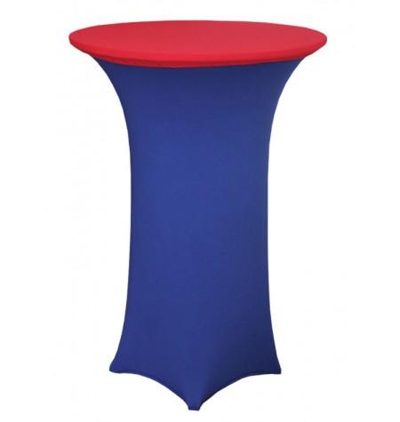 Könyöklő, kék huzattal és piros sapkával