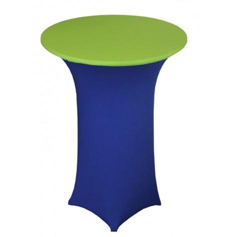 Könyöklő, kék huzattal és zöld sapkával