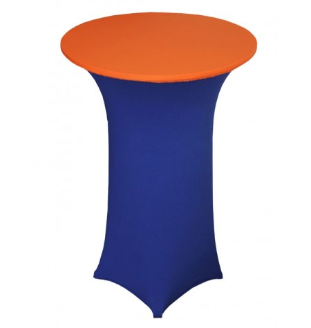 Könyöklő, kék huzattal és narancssárga sapkával